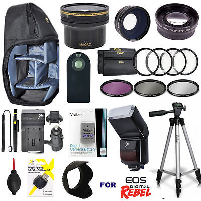 Canon EOS Rebel T7I/800D DSLR CAMERA EVERYTHING YOU NEED HD PRO ACCESSORY KIT