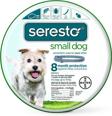 Bayer Seresto Flea and Tick Collar for Dogs, 8 Month Protection - Small Dog