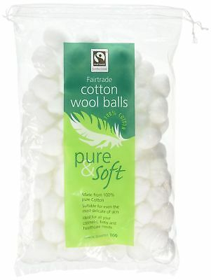 Pure & Soft 100 Cotton Wool Balls Skin Care HealthCare Body Free Shipping New