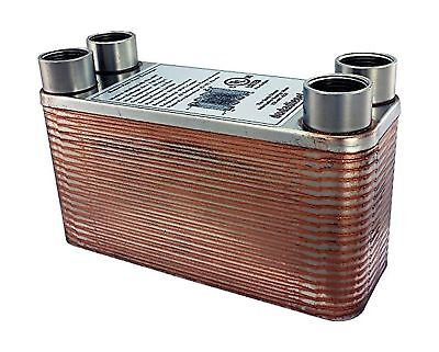 Duda Energy HX1240:F34 B3-12A 40 Plate Stainless Steel Heat Exchanger with 3/...