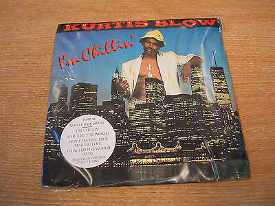 "kurtis blow i'm chillin ' 1985  uk  issue double vinyl  7"" single  still sealed"