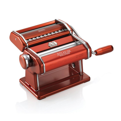 Marcato Atlas Light Alloy 150 Home Pasta Maker Machine Red w/ FREE SHIPPING NEW