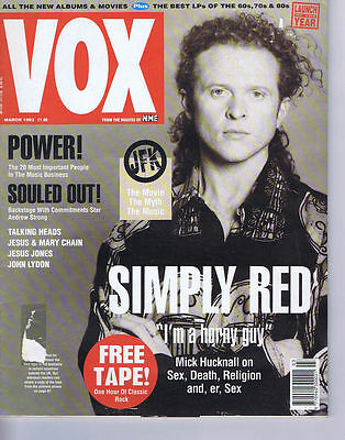 SIMPLY RED	VOX Magazine	 	 	 	March	1992