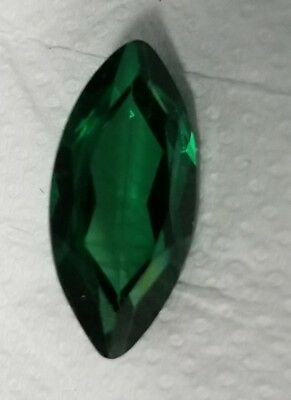 .5 ct Marquise Emerald New Vintage Genuine Corundum Swiss Made 8 x 4  Two Stones