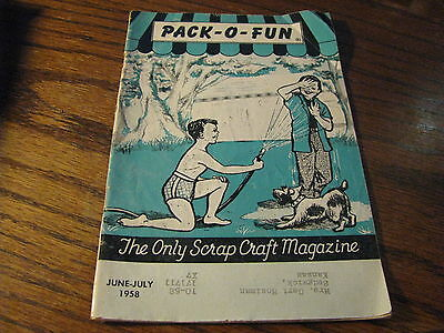 Pack O Fun Scrap-Craft Magazine 1958  June - July