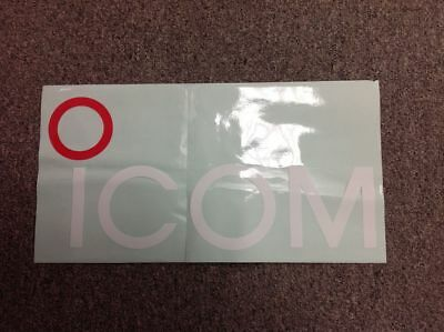 Large ICOM Window Decal, Vintage, White Letters