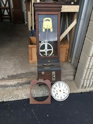 Antique International Time Recording Company Industrial Time Punch Clock