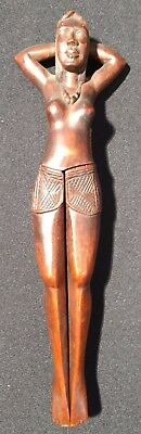 Nude Woman Vintage Polynesian Wooden Nut Cracker Finely detailed