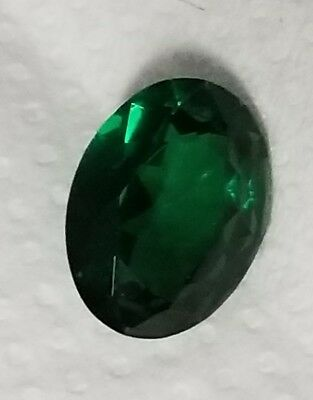 .5 ct Oval Emerald Vintage Genuine Corundum Swiss Made  6x4 mm Two Stones