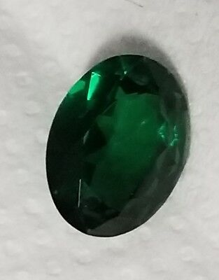 .25 ct Oval Emerald Vintage Genuine Corundum Swiss Made  5 x 3 mm Two Stones