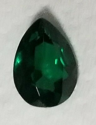 .5 ct Pear Emerald New Vintage Genuine Corundum Swiss Made 6 x 4 mm Two Stones