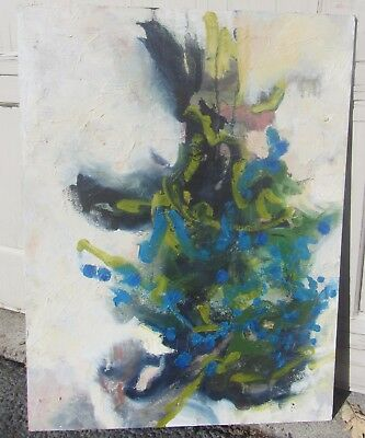 Two Vintage 60S Mid Century Modern Oil Paintings Abstract & Modernist Nude