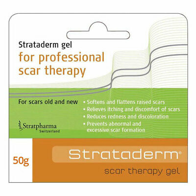 * Strataderm Scar Therapy Gel 50G Flattens Raised Scars Relieve Discomfort Itch