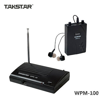 TAKSTAR WPM-100 In Ear Stage Wireless Monitors System Transmitter Receiver