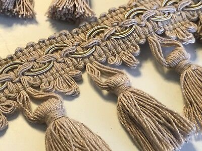 Beige 7cm Trim Tassel Fringe DIY Cotton Lace Ribbon Price per 30cm DIY Craft