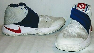 sneakers for cheap 74583 2ec98 NIKE KYRIE 2 Mens Size 10 4Th Of July Olympic Usa Red White Blue 819583-164