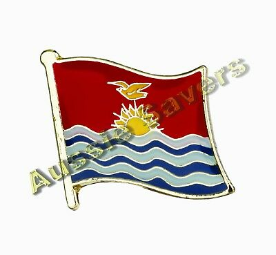 Kiribati Flag Hat Pin / Badge - Brand New