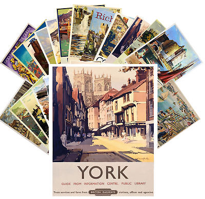 Postcards Pack [24 cards] British Railways Vintage Travel Posters CC1118