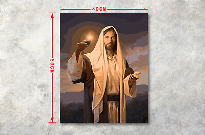 "Jesus's Light CP Print WAll Oil Painting 16X20"" Abstract Art on CAnvas Unframed"