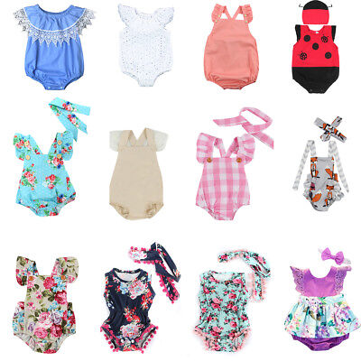 Floral Kids Newborn Baby Girls Romper Bodysuit Jumpsuit Outfits Sunsuit Clothes