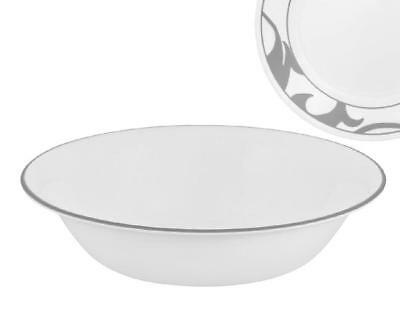 "1 CORELLE 18-oz GREY RIM SOUP BOWL Muse Grey Gray 7 1/4"" Salad Cereal Stew *NEW"