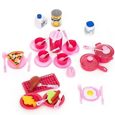 Kids Pretend Play Food Set Toy Cooking Learning Kitchen Children Birthday Gift