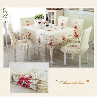Fashion Dining Table Cloth Chair Covers Cushion Tablecloth Dining Table Cover US