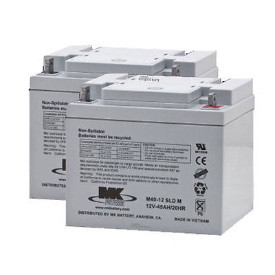 45AH Rechargeable Electric Mobility Scooter/Powerchair Batteries - Pair