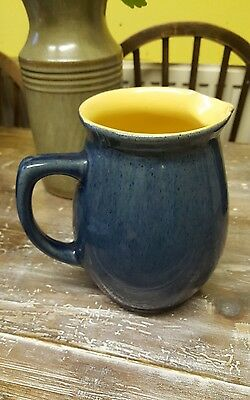 denby bourne stoneware 1.5 pint jug blue yellow