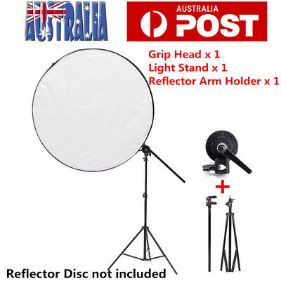 Photo Studio Reflector Disc Holder Arm With Light Stand Photography Accessories