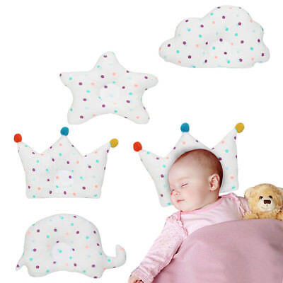 Newborn Baby Infant Cotton Soft Pillow Prevent Flat Head Anti Roll Support Neck