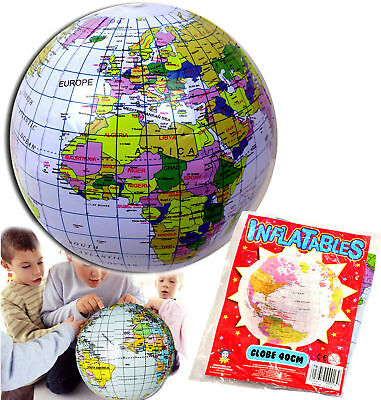 Inflatable Globe World Map Earth Beach Ball Educational Toy Party Bag Filler