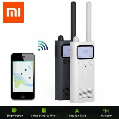 Xiaomi UHF/VHF Dual Band Bluetooth 4.0 Two-way Walkie Talkie FM Radio 2600mAh