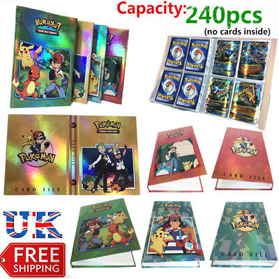 Pokemon Cards Album Book Card Collectors 240 Pcs Capacity Cards Holder Gift UK