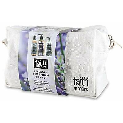 FAITH IN NATURE Set Vegan Gel Doccia Detergente Mani Lozione Corpo Lavanda
