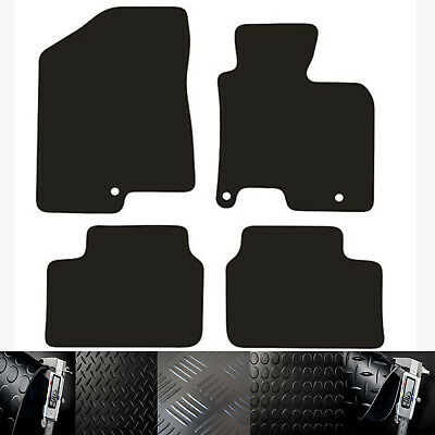 Kia Ceed (2012 To 2018) New Choice Of Black Rubber Tailored Car Floor Mats