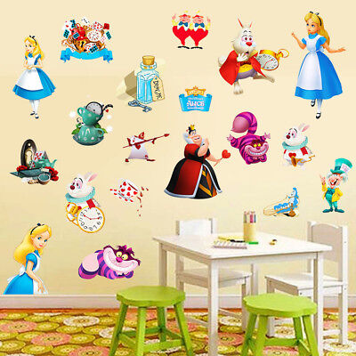 RED QUEEN OF HEARTS Disney Decal Removable WALL STICKER Home Decor ...