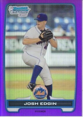 Josh Edgin 2012 1St Bowman Chrome Purple Refractor /199