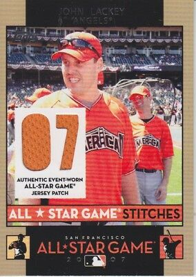 John Lackey 2007 Topps All Star Game Stitches Jersey