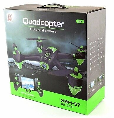 BEST DRONE WITH CAMERA - DELUXE SET XBM 57 FPV  RC Quadcopter 1080P HD DRONES UK