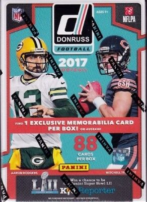2017 Donruss Football 11 Pack Sealed Blaster Box w/1 EXCLUSIVE Memorabilia Card