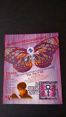 """Prince""""the Most Beautiful Girl In The World"""" Rare Original Print Promo Poster Ad"""