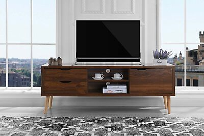Mid Century Modern TV Stand Entertainment Center Media Cabinet Console Table