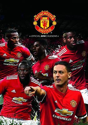 Manchester United Official 2018 A3 Wall Calendar Man Utd