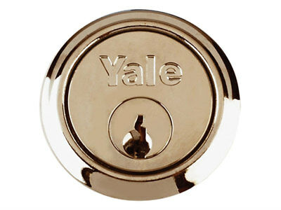 Yale Replacement Rim Cylinder Lock & 2 Keys Polished Brass P-1109-Pb (27)