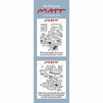 Matt Official 2018 Slim Wall Calendar