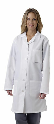 Medline Ladies' SilverTouch Staff Length Lab Coat, White (Size 2 - 36)