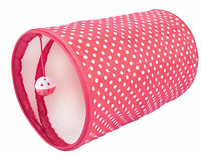 Good Girl Red  Cat Kitten Play Tunnel Hide & Seek With Ball Toy