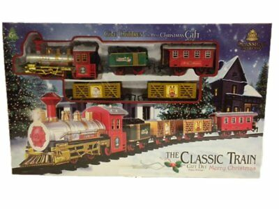 The Classic Train Battery Operated Christmas Tree Kids Toy Set Light Sound New
