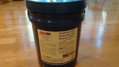 Amsoil Synthetic Hydraulic Oil ISO 46  -  5 Gallon Pail